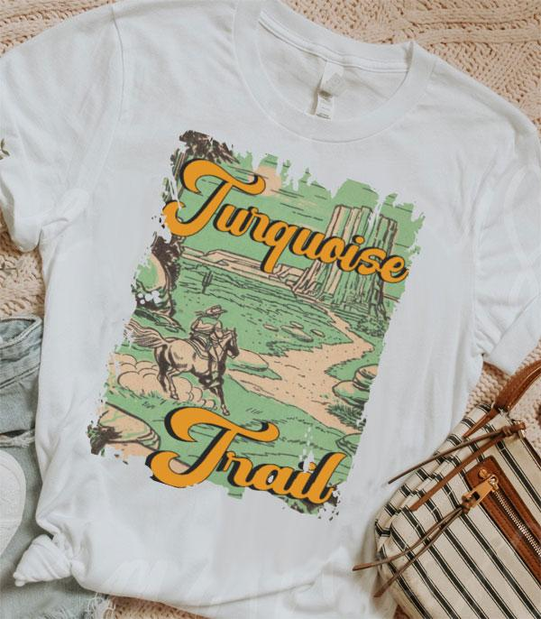 APPAREL/ VEST :: GRAPHIC TEES :: Wholesale Turquoise Trail Western Graphic Tshirt