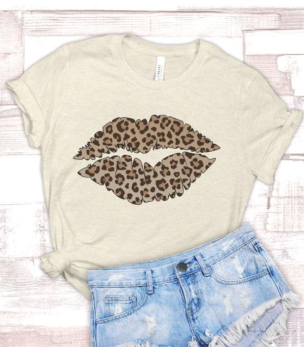 APPAREL/ VEST :: GRAPHIC TEES :: Wholesale Leopard Lips Vintage Graphic Tshirt