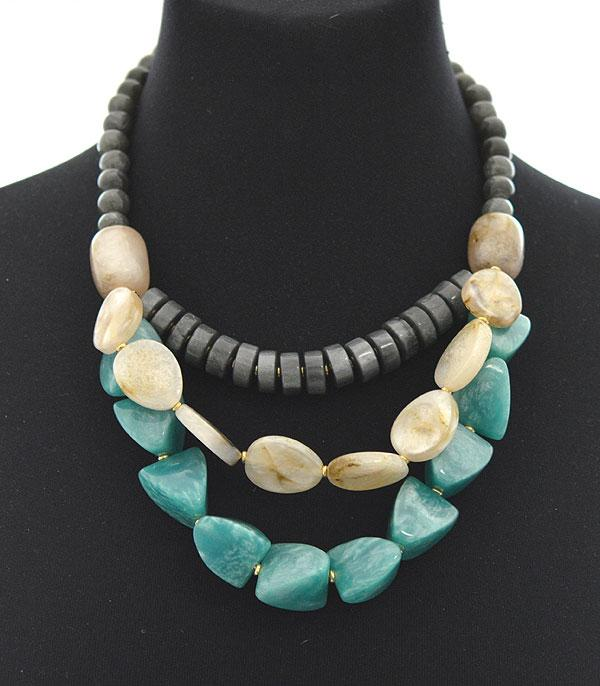 New Arrival :: Wholesale Glass Bead Layered Necklace