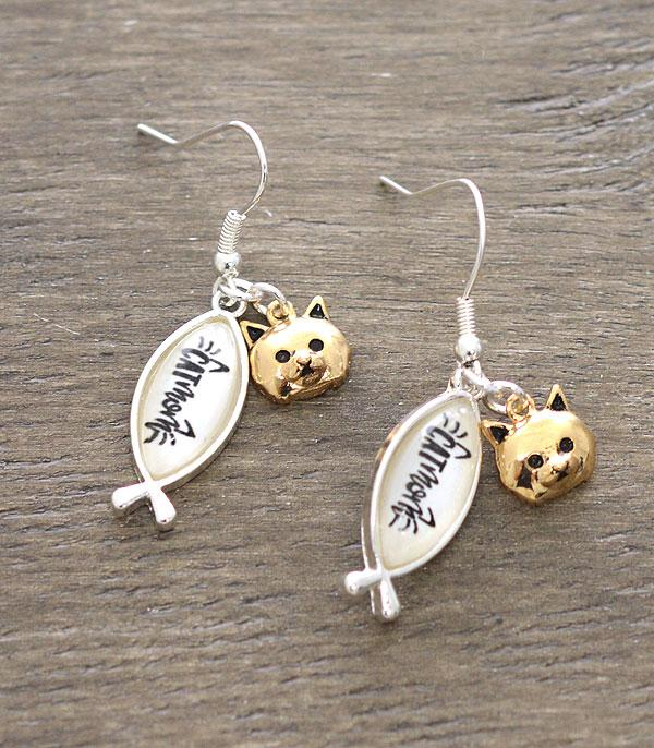New Arrival :: Wholesale Cat Mama Dangle Earrings