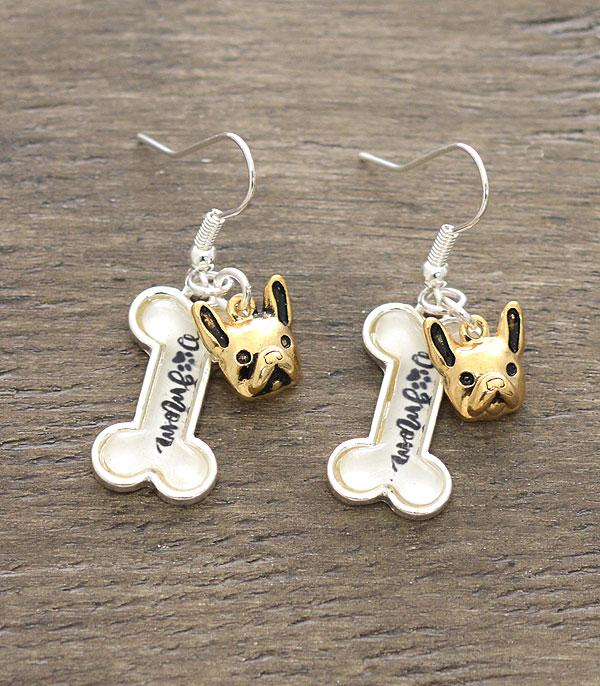 New Arrival :: Wholesale Dog Mama Dangle Earrings