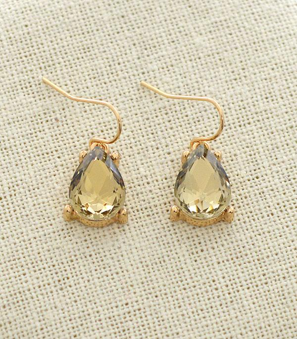 New Arrival :: Wholesale Teardrop Stone Dangle Earrings