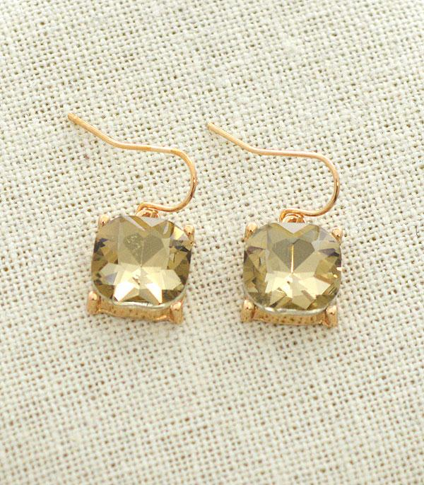 New Arrival :: Wholesale Cushion Cut Dangle Earrings