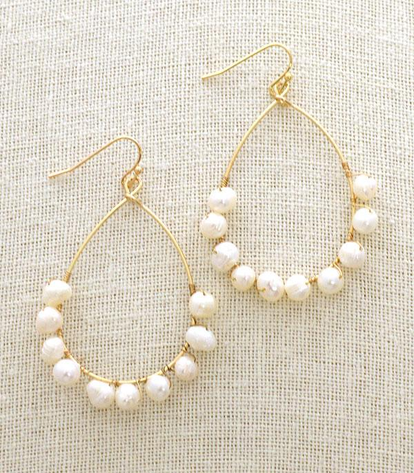 New Arrival :: Wholesale Freshwater Pearl Teardrop Earrings