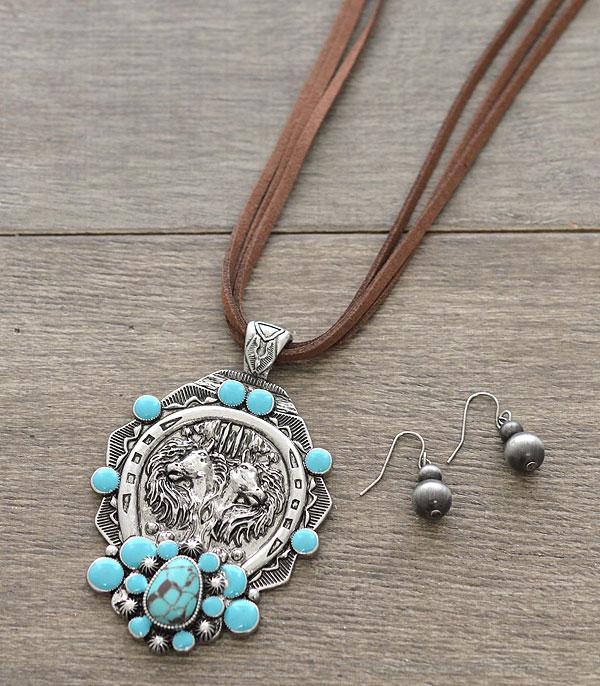 New Arrival :: Wholesale Western Horse Pendant Necklace