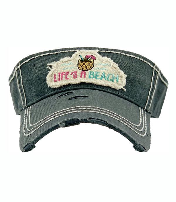 New Arrival :: Wholesale Lifes A Beach Vintage Visor