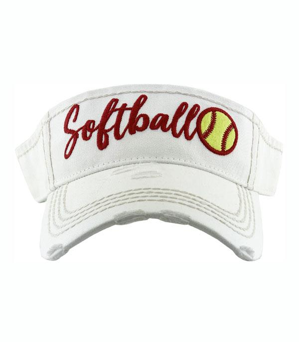 New Arrival :: Wholesale Softball Embroidered Summer Visor
