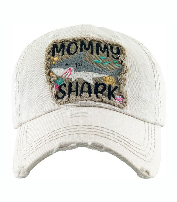 New Arrival :: Wholesale Mommy Shark Vintage Ballcap