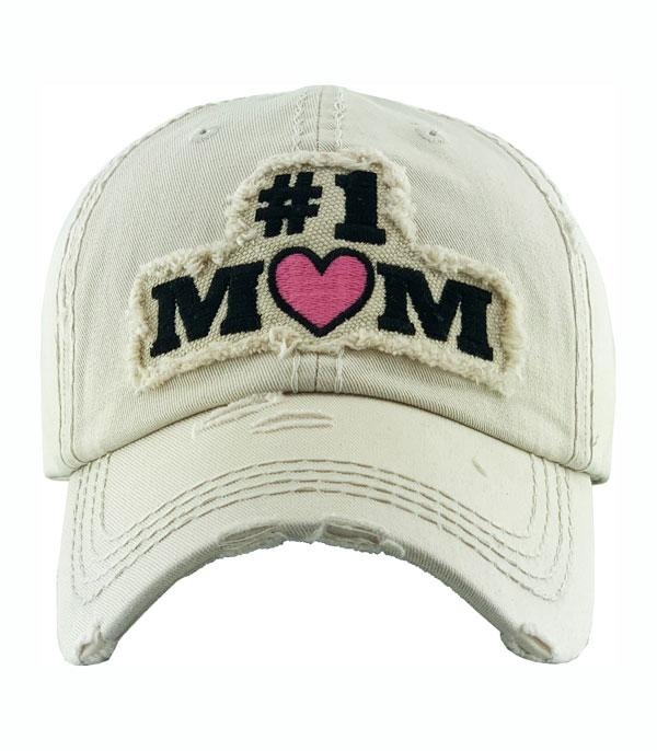 New Arrival :: Wholesale Number One Mom Vintage Ballcap