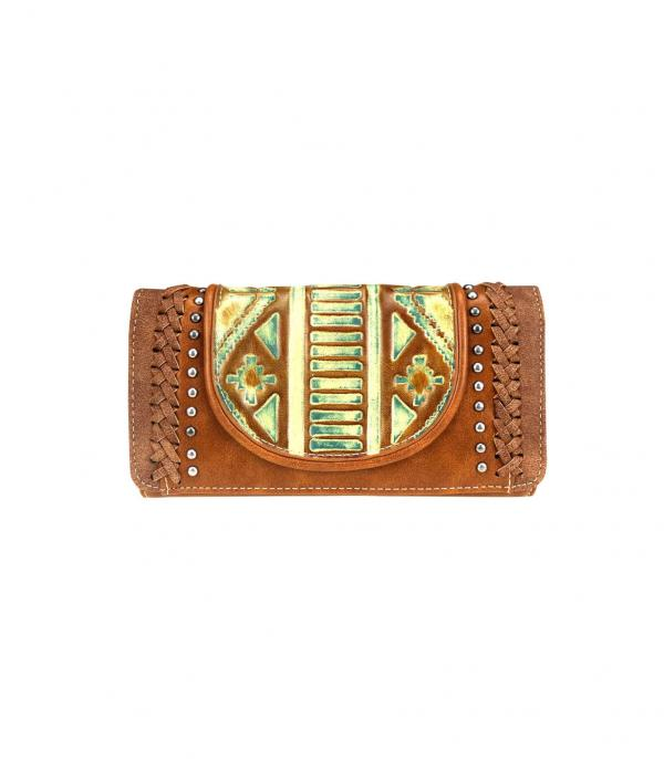 New Arrival :: Wholesale Trinity Ranch Tooled Wallet Wristlet