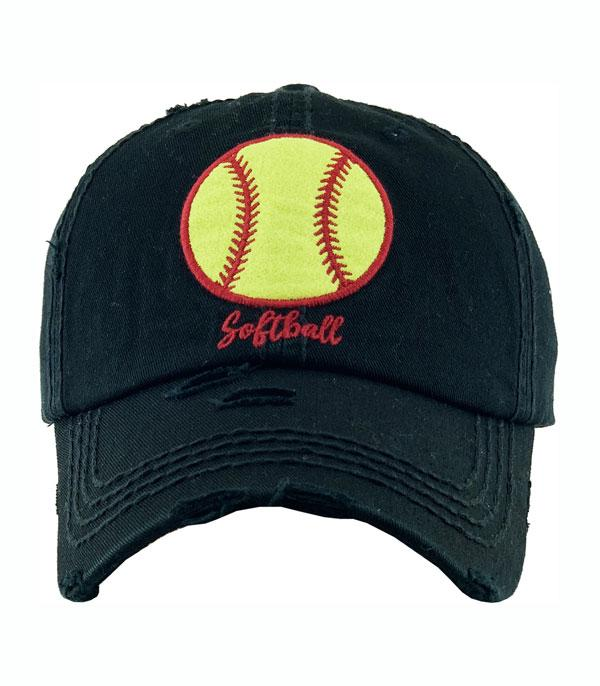 New Arrival :: Wholesale Softball Embroidered Vintage Ballcap
