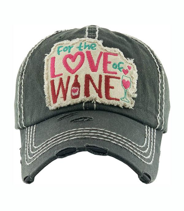 New Arrival :: Wholesale For The Love Of Wine Vintage Ballcap
