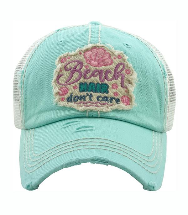 New Arrival :: Wholesale Beach Hair Dont Care Vintage Ballcap