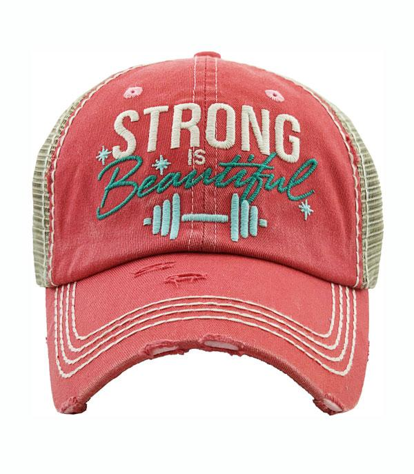 New Arrival :: Wholesale Strong Is Beautiful Vintage Ballcap