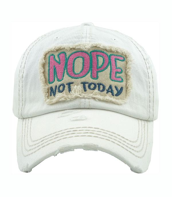 New Arrival :: Wholesale Nope Not Today Vintage Ballcap