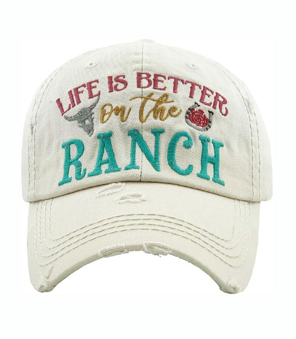 New Arrival :: Wholesale Life Is Better On The Ranch Ballcap
