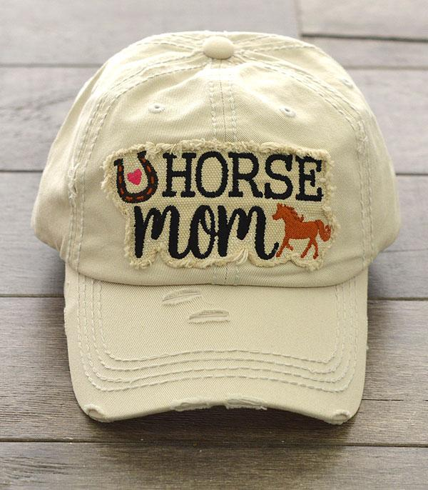 New Arrival :: Wholesale Horse Mom Patch Vintage Ballcap