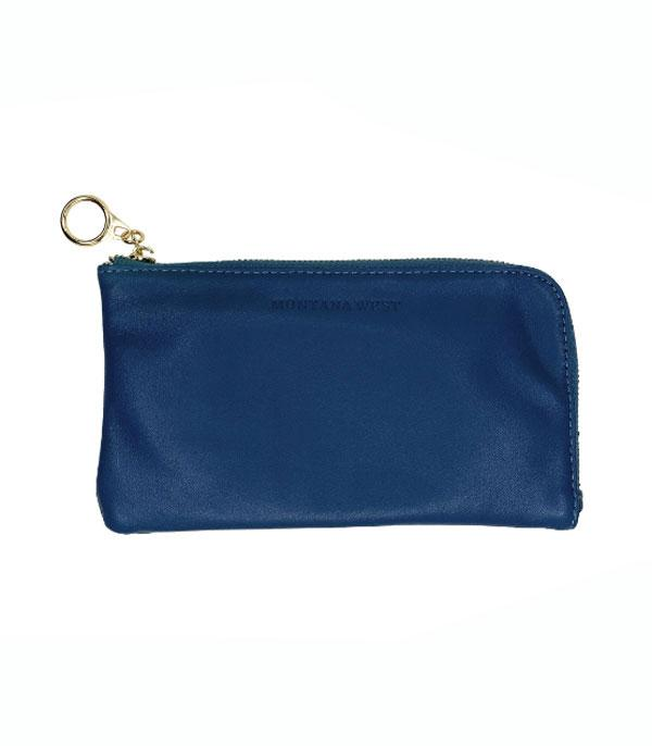 New Arrival :: Wholesale Montana West Leather Zip Lanyard Pouch