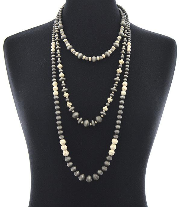 New Arrival :: Wholesale Layered Navajo Pearl Beads Necklace