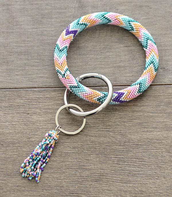 New Arrival :: Wholesale Handmade Seed Bead Bangle Keychain