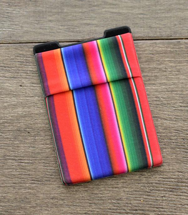 New Arrival :: Wholesale Serape Print Stick-On Card Wallet