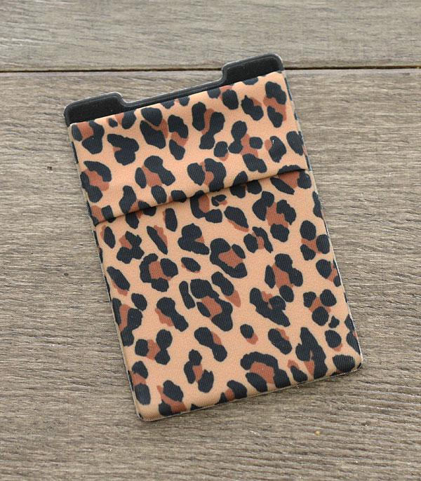 New Arrival :: Wholesale Leopard Print Stick-On Card Wallet