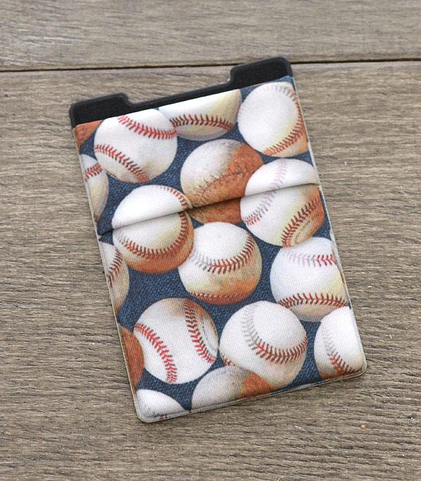New Arrival :: Wholesale Baseball Print Stick-On Card Wallet