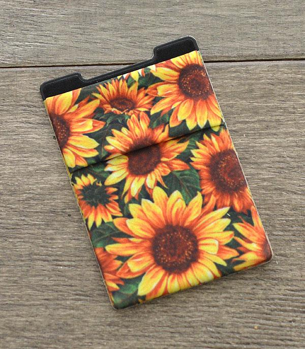 New Arrival :: Wholesale Sunflower Stick-On Card Wallet