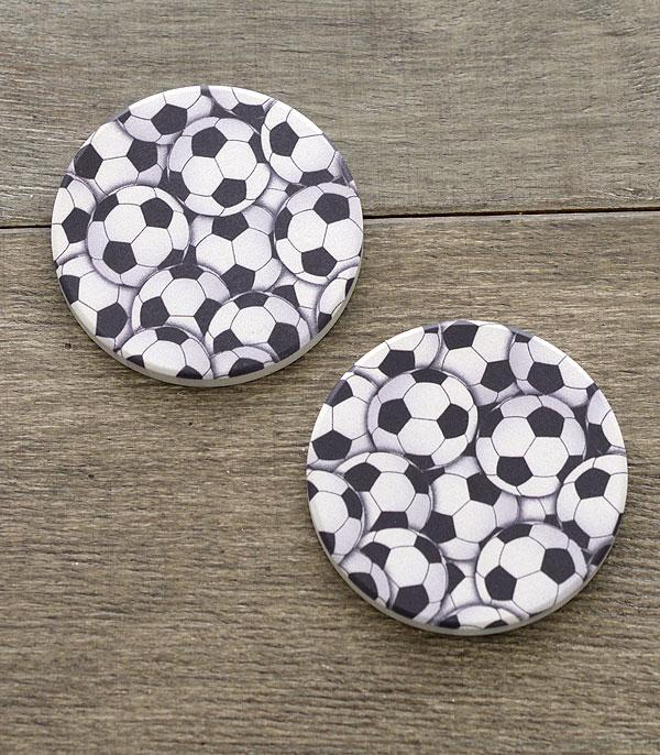 New Arrival :: Wholesale Soccerball Car Coaster Set