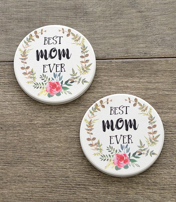 New Arrival :: Wholesale Best Mom Car Coaster Set