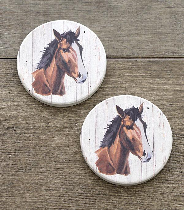 New Arrival :: Wholesale Horse Print Car Coaster Set