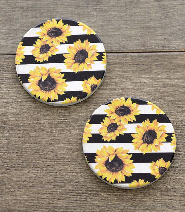 New Arrival :: Wholesale Sunflower Car Coaster Set