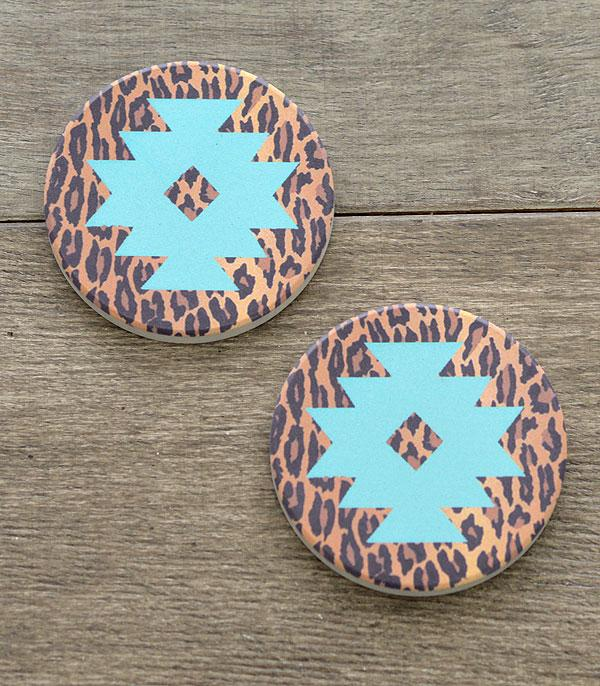 New Arrival :: Wholesale Aztec Leopard Car Coaster Set