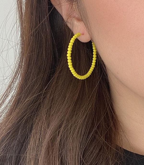 New Arrival :: Wholesale Glass Bead Hoop Earrings