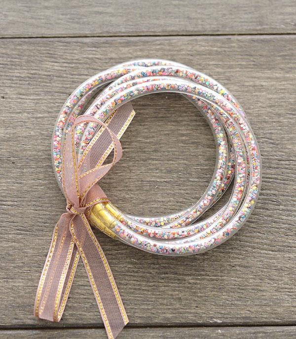 New Arrival :: Wholesale Glitter Jelly Tube Bangle