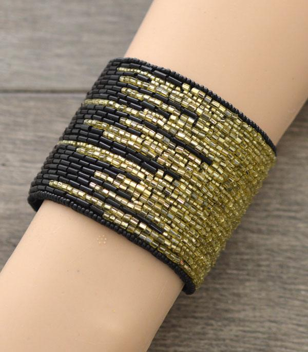 New Arrival :: Wholesale Seed Beaded Cuff Bracelet
