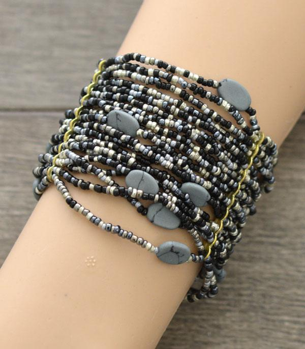 New Arrival :: Wholesale Seed Beaded Stretch Bracelet