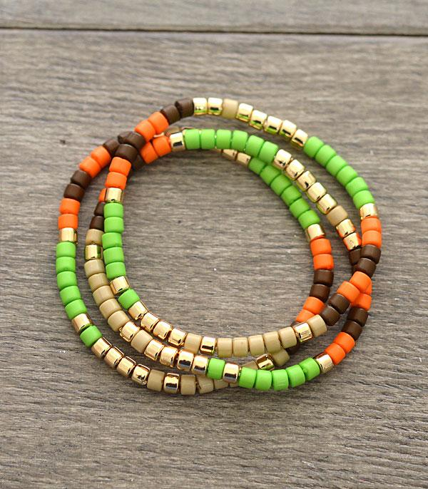 New Arrival :: Wholesale Tube Bead Bracelet Set