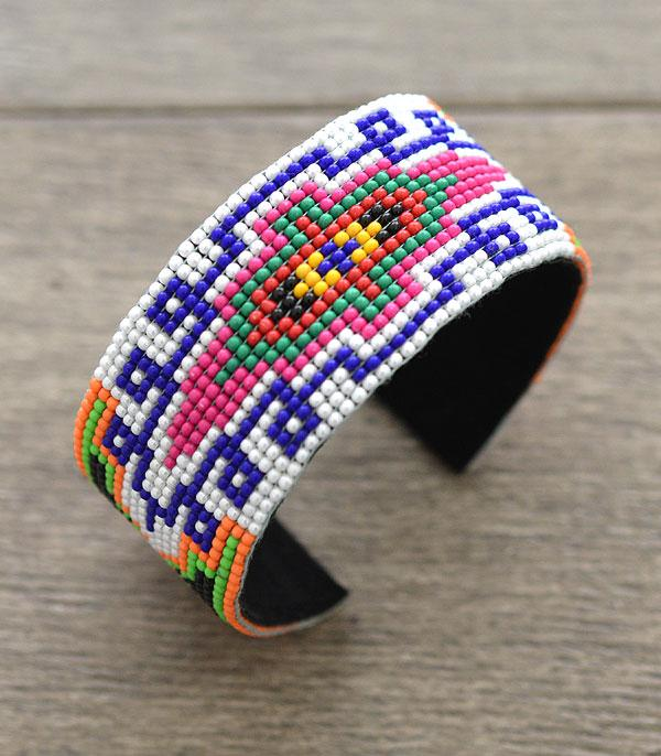 New Arrival :: Wholesale Aztec Seed Bead Cuff Bracelet