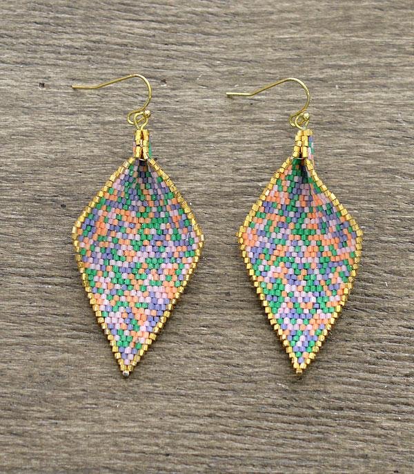 New Arrival :: Wholesale Curved Japanese Seed Bead Earrings