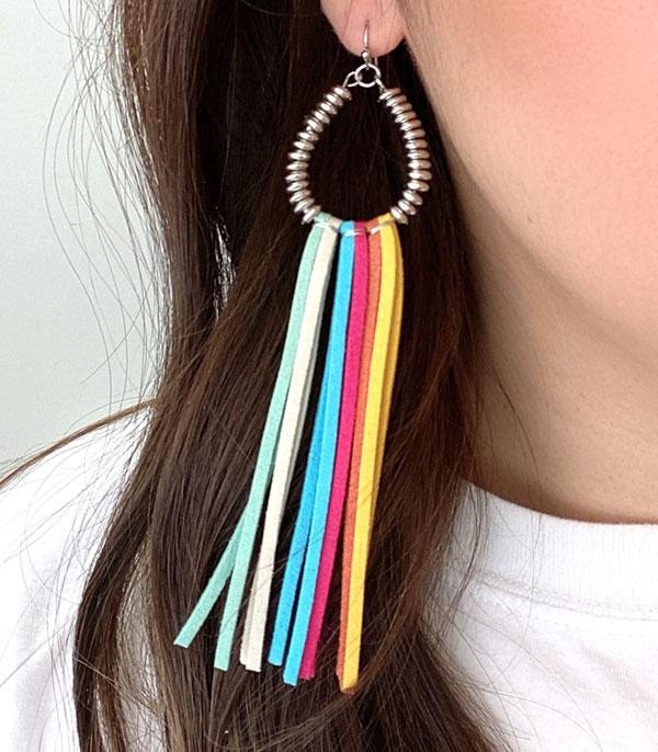 New Arrival :: Wholesale Teardrop Metal Tassel Earrings