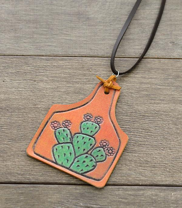 New Arrival :: Wholesale Leather Cattle Tag Necklace