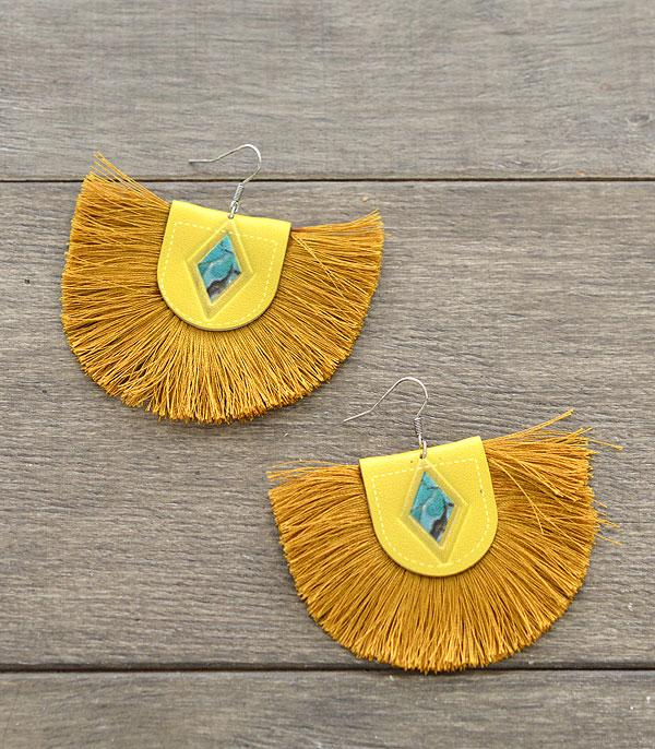 New Arrival :: Wholesale Leather Tassel Earrings