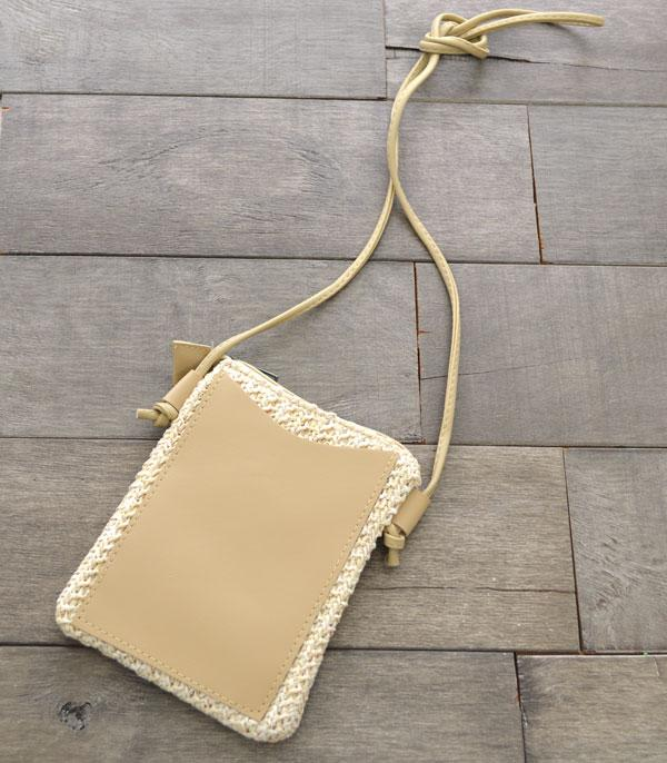 New Arrival :: Wholesale Straw Crossbody Bag