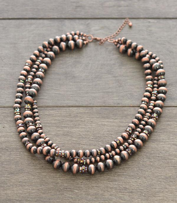 New Arrival :: Wholesale Navajo Pearl Bead Layered Necklace
