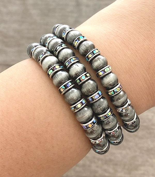 New Arrival :: Wholesale Navajo Pearl Bead Bracelet Set