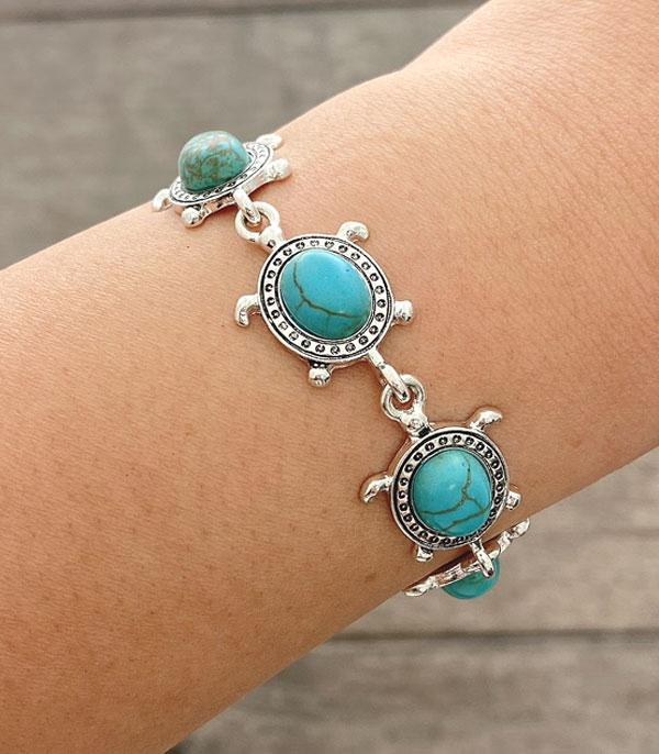 New Arrival :: Wholesale Turquoise Turtle Magnetic Bracelet