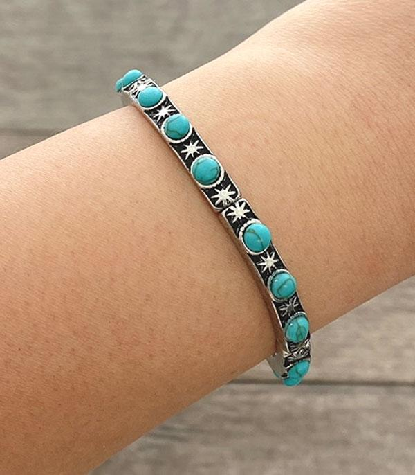 New Arrival :: Wholesale Turquoise Stackable Bracelet