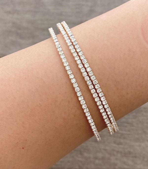 New Arrival :: Wholesale Rhinestone Bangle Set
