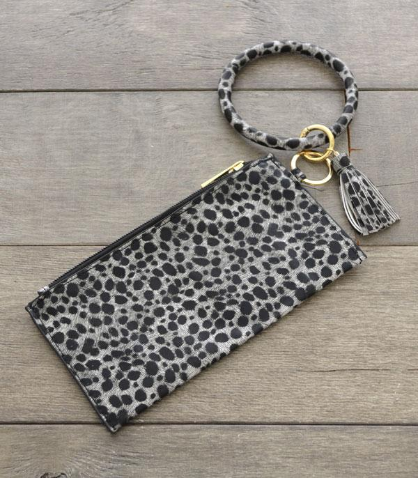 New Arrival :: Wholesale Leopard Print Bangle Wristlet Pouch